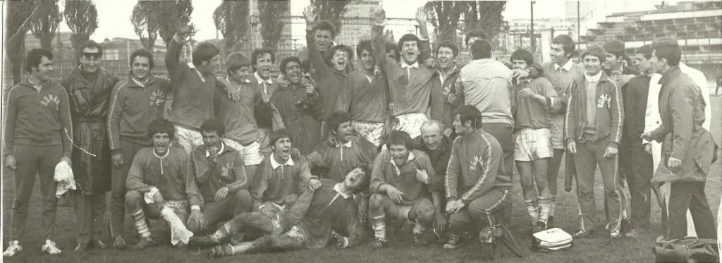 ECHIPA ROMANIEI CAMPIOANA FIRA JUNIORI IN 1973