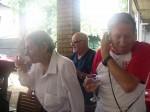 George Astaloș și Mircea Iliescu închină un pahar sărbătoritului